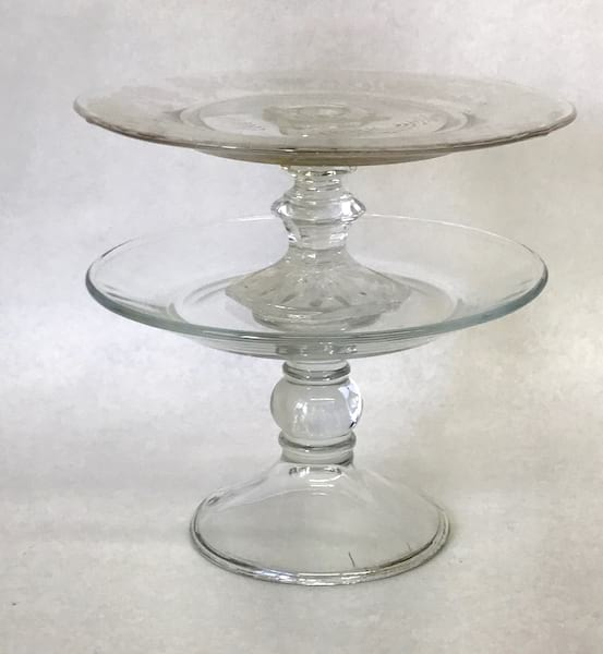 """small cake plate 7.5"""""""