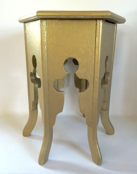 Small Gold Boho Table