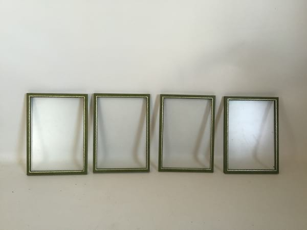 green leather frame