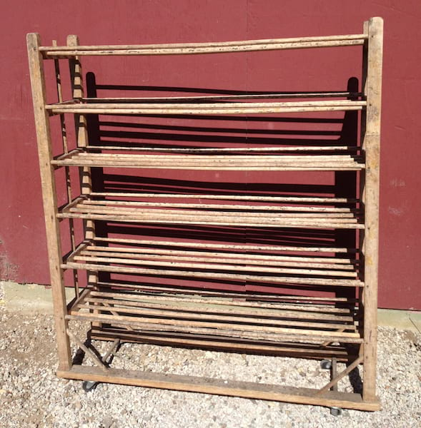 WARD WOOD SHELF RACK