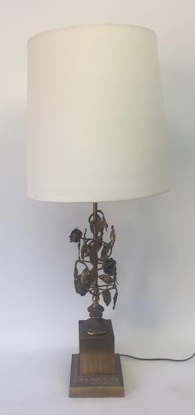LILLIAN Gold leaf  lamp