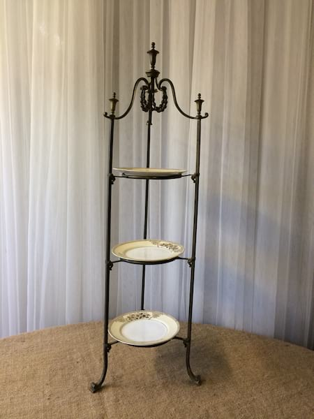 French Gold Dessert stand