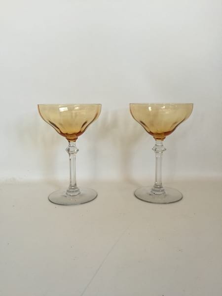 gold coupee toasting glasses