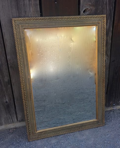 MAURICE GOLD FRAMED MIRROR 24 X 36