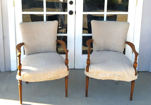 EVELYN LINEN COVERED CHAIRS