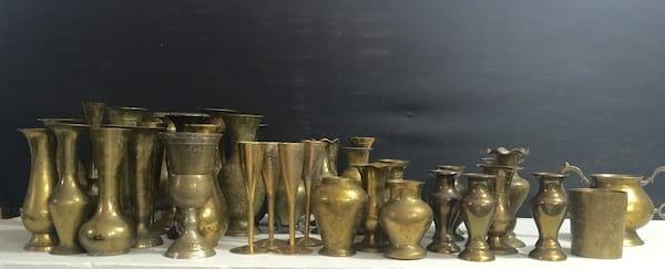 Small Brass Vases