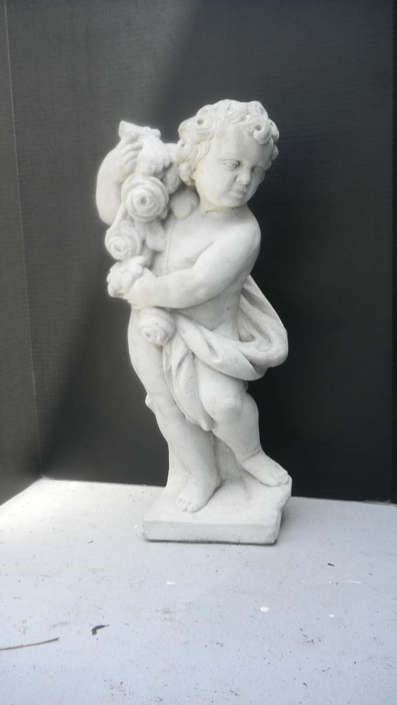 Cherub with Garland Statuary