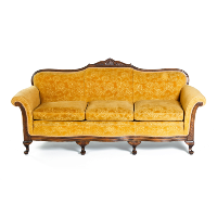 Gold Floral Couch