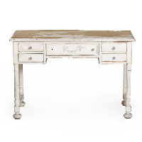 Shabby Small White Desk