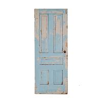 Weathered Light Blue Door
