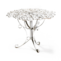 Fancy White Metal Table