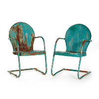 Rusty Green Metal Chairs (metal)