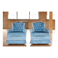 Blue Velvet Chairs (pair)