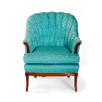 Aqua Shell Back Chair