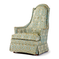 Light Blue/Gold Chair