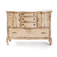 Distressed Light Brown Dresser