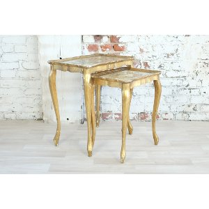 Florentine Gold Nesting Tables