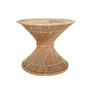Hourglass Spun Wicker Coffee Table