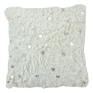Ivory Moroccan Pillow II Silver