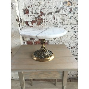 Marble and Brass Ornamental Cake Stand