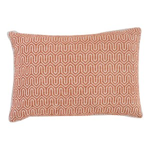 Orange Geometric Pillow