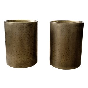 Hammered Brass Side Tables