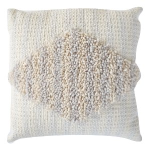 Textured Blue Striped Pillow