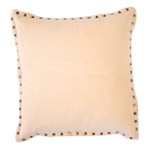 Peach Velvet Studded Pillow