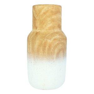 White Ombre Floor Vase, Small
