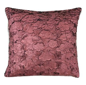 Deep Red Metallic Textured Pillow