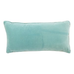 Turquoise Blue Velvet Pillow