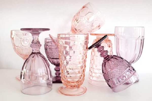 Blush and Violet Goblet Collection