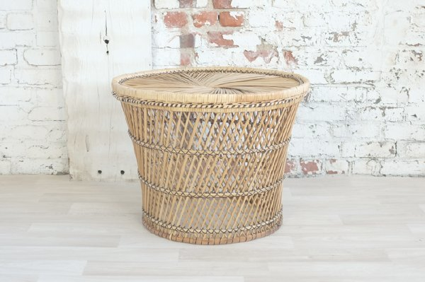 Spun Wicker Coffee Table, Large