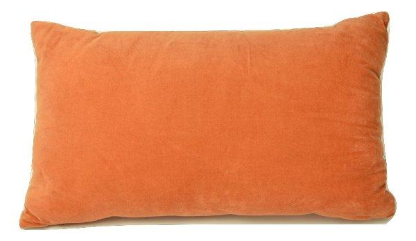 Orange Velvet Lumbar Pillow