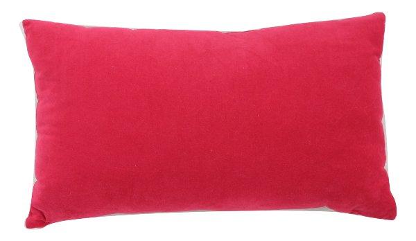 Bright Red Lumbar Pillow