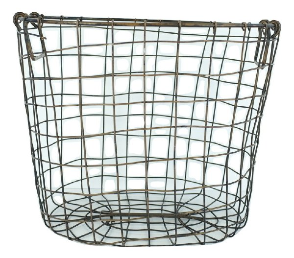 Small Oval Wire Basket