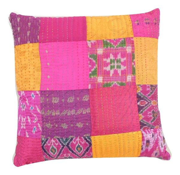 Indian Patchwork Pillow