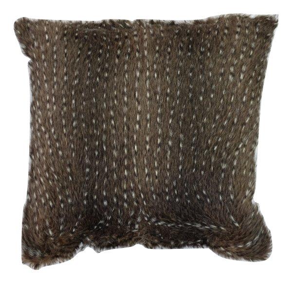 Black Animal Fur Pillow