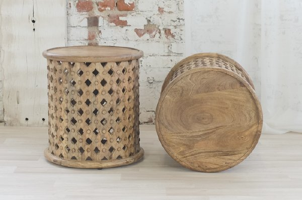 Mango Carved Side Table