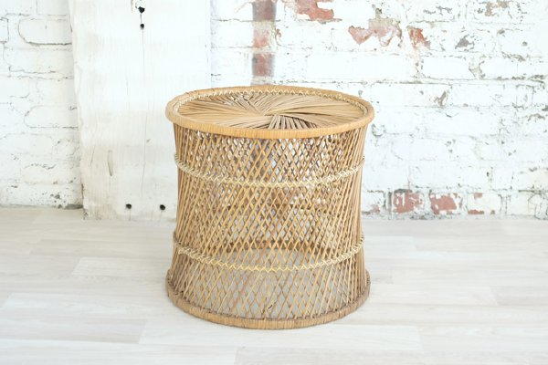 Spun Wicker Coffee Table, Small