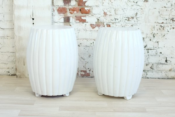 Biscuit White Side Tables