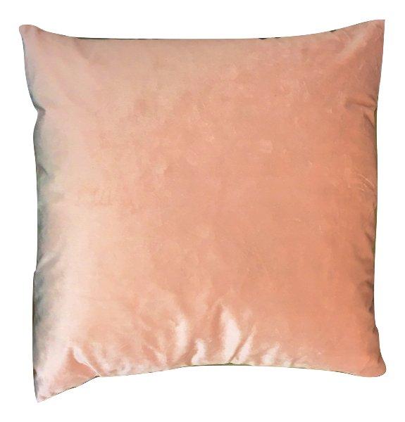 Light Coral Pink Shimmer Velvet Pillow