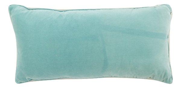 Turquoise Blue Velvet Pillow