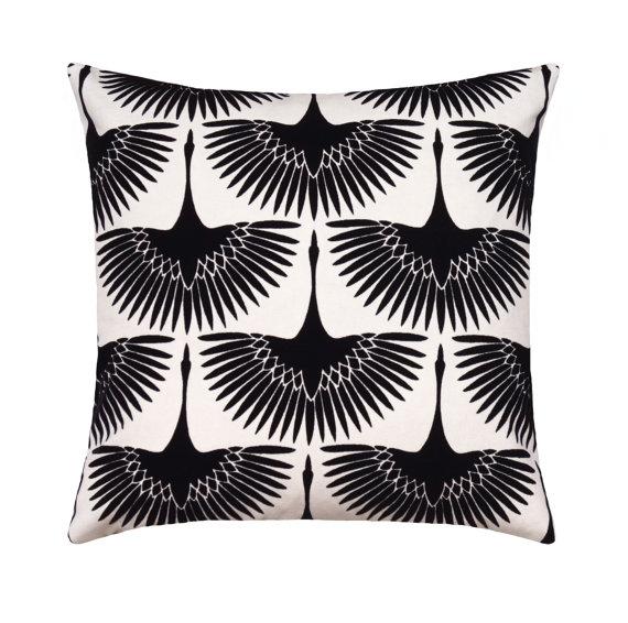 Velvet Black and White Mod Pillows