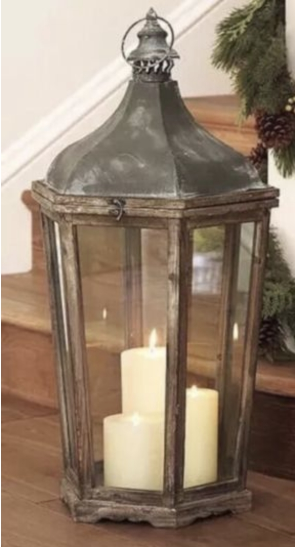 Wood and Galvanized Lanterns, Tall