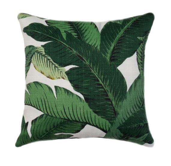 Green Palm Pillows