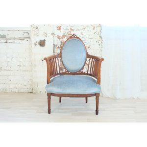 French Blue Antique Chair