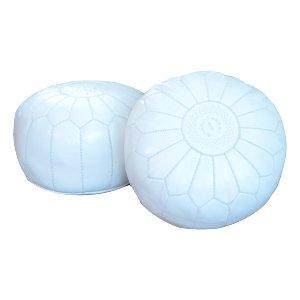 White Poufs