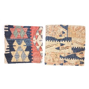 Blue / Pink Kilim pillows