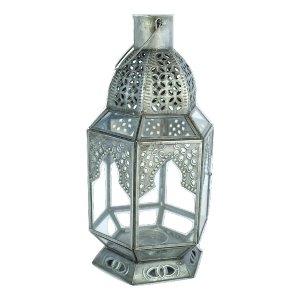 Antique Zinc Moroccan Lantern, Large